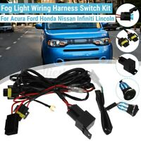 LED Fog Light Work Lamp Wiring Harness Switch Kit H11 For Toyota Hiace Hilux New