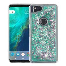 for Google Pixel 2 Quicksand Liquid Glitter Hybrid Skin Case Cover+PryTool