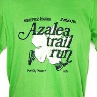Azalea Trail Run 10K Race T Shirt Vintage 80s 1982 Port City Pacers USA Size XL