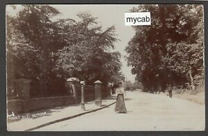 Postcard Eltham in Greenwich London post box in Court Road postmark 1905 RP