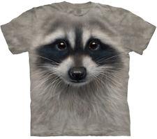 Raccoon Face Bandit Masked City Life Coon Gray Animal Mountain T-Shirt M-5X