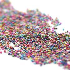 50g Deep Mixed Color Mini Tiny Ball Beads Caviar Nail Art Tips Decoration Tool