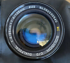 Soligor C/D Dualfocal 1:4/85mm + 1:4/135mm MC With Canon 49mm SKY 1-A Filter