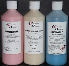 Bumper Shine Rubbing Compound & Car Polish Paintwork Restoration Valeting Kit