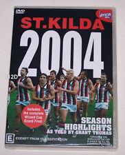 St Kilda Saints AFL 2004 Season Highlights & Wizard Cup Grand Final 2dvd set new