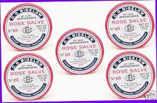 5 Bath & Body Works ROSE SALVE Lip Balm Chap Gloss Knees Hands Cuticles Elbows