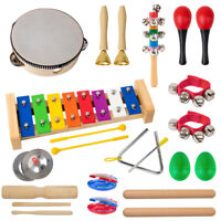 Toddler Musical Instruments Toys for Kids, Tambourine, Maraca, Bell, Xylophone