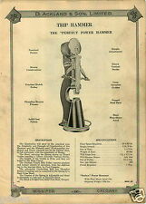 1923 PAPER AD Perfect Trip Power Hammer D Ackland & Son Parts Repair Price List