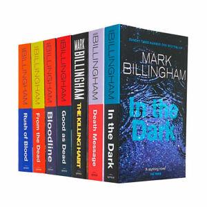 Mark Billingham Tom Thorne Thriller 7 Books Collection Set, In The Dark, Rush of