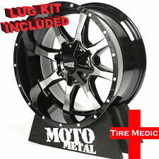 "4 New Moto Metal Mo970 Rims / Wheels 18x9"" +18 6X120 / 6X139.7 / 6X5.5"
