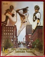 (2) Lynchburg Hillcats Programs Minor League 1999 2007