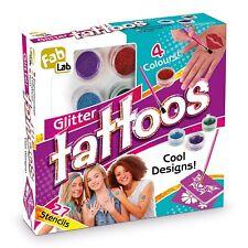 GLITTER TATTOOS KIT BY FAB LAB FROM INTERPLAY FABLAB - BRAND NEW!