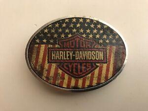 "Harley-Davidson men's ""Stealth"" belt buckle.#HDWBU10219.Antique nickel plaited."