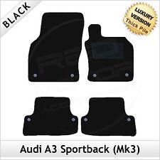 Audi A3 Mk3 Sportback 2012 onwards Tailored LUXURY 1300g Carpet Car Mats BLACK