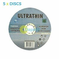 """5 x Metal Cutting Discs 1mm Ultra Thin 4 1/2"""" 115mm Angle Grinder Disc Steel S/S"""