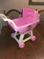 "Vintage Little Miss Rainbow Pink Doll Stroller 19"" Tall"