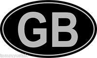 GB Classic Black & Silver Vintage Classic Car Caravan Country ID Sticker x 2