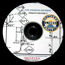 Southern Pacific RR 1988 LA Div. Mojove District S.P.I.N.S. PDF pages on DVD