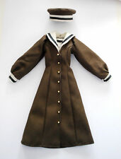 Outfit sailor School uniform Brown military 1/6 Doll Azone Momoko Pullip obitsu