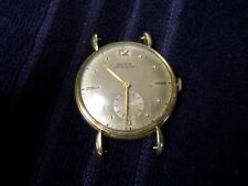 VINTAGE DOXA anti magnetique # 821522 14K RoseGold Watch Hand Winding 34MM Case