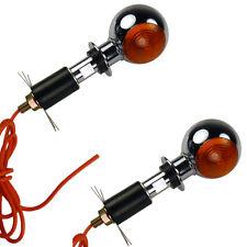 Kleine runde Motorrad Bullseye Lenkerendenblinker chrom für vorne und hinten