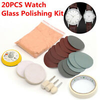 20x Glass Polishing Kit Sandpaper Polishing Pad For Watch Screen Scratch Remove