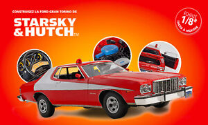 Build the Starsky & Hutch's Ford Gran Torino Scale 1/8 New Complete Collection !