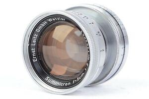 Ernst Leitz GmbH Wetzlar Summicron 5cm f/2 - Collapsible Lens for L39 LTM #P2053