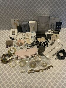 Fashion Jewelry Mixed Lot Of 38 NWT Earrings Necklaces Bracelets #BE2