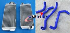 For HONDA ATC250R ATC 250R 85 86 1985 1986 aluminum radiator & BLUE hose