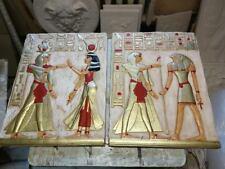 2 X RELIEF HORUS RAMZES ÄGYPTEN WANDRELIEF FLACHRELIEF ÄGYPTISCHE ANTIK STYLE