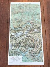 1956 map & information - switzerland the electric st gotthard railway