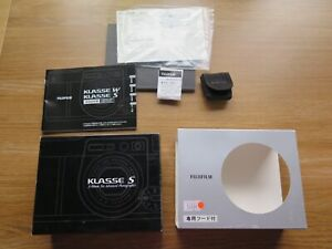 **EMPTY BOX + MANUAL** for Fujifilm Klasse S (NO CAMERA INCLUDED!) **FREE P&P**