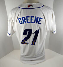 2019 Omaha Storm Chasers Connor Greene #21 Game Used White Jersey