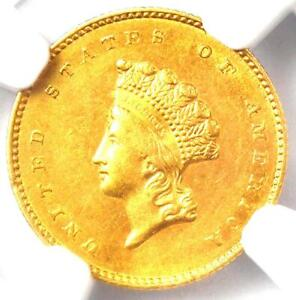 1855-O Type 2 Indian Gold Dollar (G$1 Coin) - NGC Uncirculated Details (UNC MS)