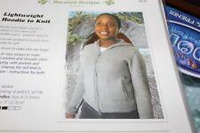 Knit One Crochet Too Knitting Pattern K2.32 Lightweight Hoodie to Knit 30-50
