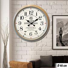 Rétro Horloge murale Optique bois beige Analogue Affichage de l'heure