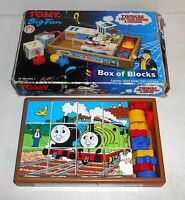 Vintage 1994 Tomy Toys ~ Thomas the Tank Engine ~ BIG FUN PLAY CUBES with Tray