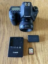 Canon EOS 6D 20.2 MP Digital SLR Camera - 50mm 1-8 Prime - SD Card &battery.