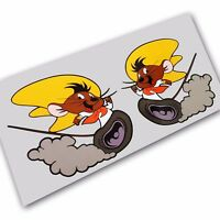 Speedy Gonzales mouse run stickers decals motorcycle decals graphics x 2 SMALL