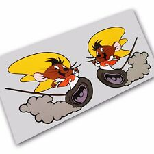 Speedy Gonzales mouse run stickers decals motorcycle decals graphics x 2