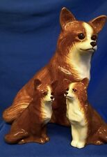 More details for quail ceramic chihuahua dog moneybox and salt & pepper gift set