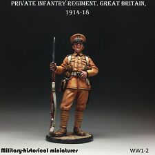 Private Great Britain 1914-18 Tin toy soldier 54 mm 1/32 figurine Hand Painted