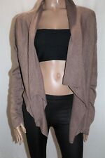 JACQUI-E Brand Taupe Knitwear Long Sleeve Cardigan Size L BNWT #SM48