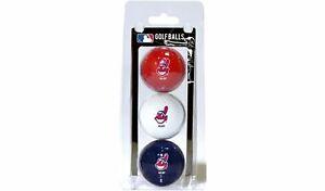 MLB Cleveland Indians Sleeve of 3 Golf Balls