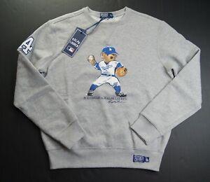 POLO RALPH LAUREN Men's MLB Collection Dodgers LA Bear Fleece Sweatshirts sz L