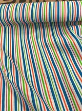 Polycotton Fabric Stripes Curtains Blinds Cushions Bunting Bright Bold