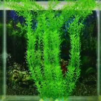 Aquarium Fish Tank Accessories Decor Green Grass Artificial Fake Plas F6H5
