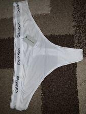 Nwt Calvin Klein Plus Size Modern Cotton Thong Panty White QF5117 Sz 3X