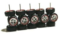 1:64 rubber tires rims - NITTO fit Hot Wheels Japan Historic diecast - 5 sets